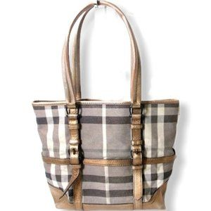 Authentic BURBERRY Shimmer Metallic Tote